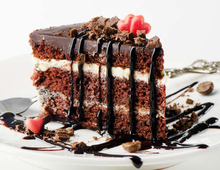 dessert plate: Dark chocolate cake
