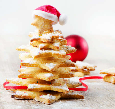 Decorated cookies -  Christmas tree photo