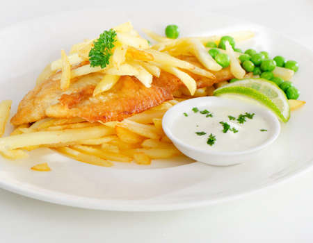 British food - fish and chips photo