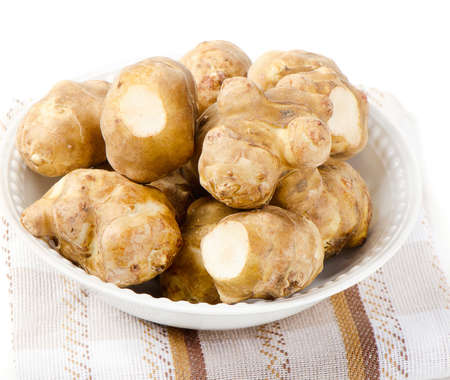 jerusalem artichoke isolated on white background photo