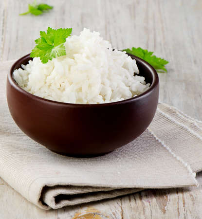White rice  Selective focus photo