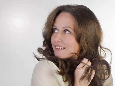 Portrait of beautiful smiling woman photo