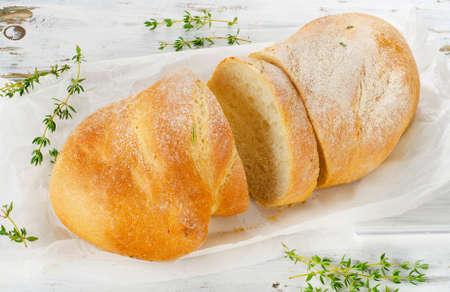 ciabatta: Italian ciabatta bread Ready to Eat
