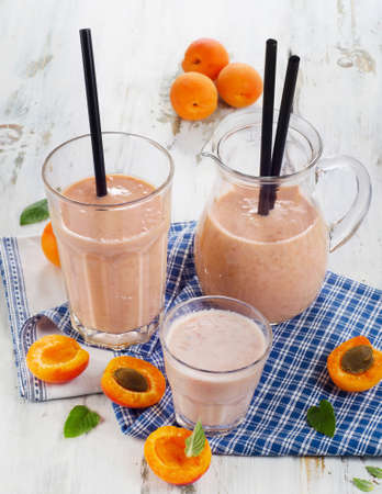 fruity: Fruity Smoothie with fresh fruits. Selective focus
