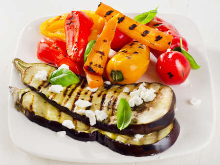 grilled vegetables: Grilled vegetables on a plate. Selective focus
