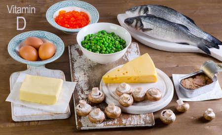 Healthy Food of vitamin D. View from above Zdjęcie Seryjne