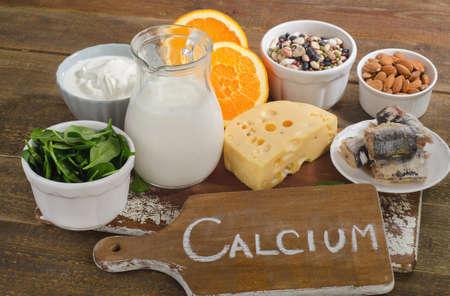 calcium: Best Calcium Rich Foods Sources. Healthy eating Stock Photo