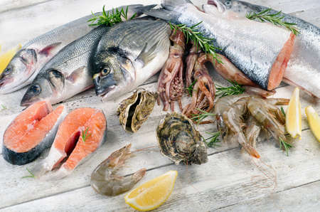 gilthead: Fresh raw seafood. Healthy diet eating.
