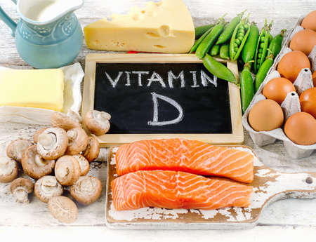 Foods rich in vitamin D. Healthy food