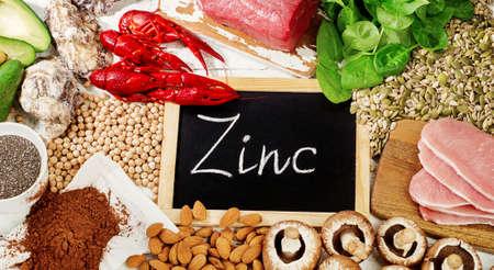 Foods Highest in Zinc. Top view 版權商用圖片 - 66526195
