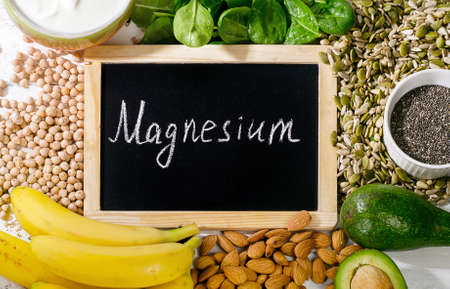 Products rich in magnesium. Healthy food concept. Top view