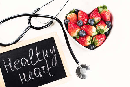Fresh berries. Healthy heart concept Stock Photo