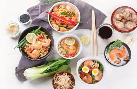 Thai food. Traditional asian cuisine. Top view Stock Photo