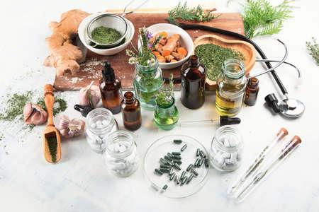 Homeopathy. Alternative medicine concept.