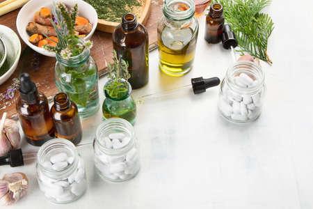 Homeopathy. Alternative medicine concept. Stock Photo - 108060691