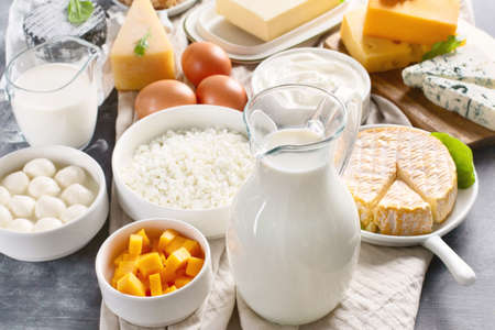 Dairy products.  Milk, cheese, sour cream, cottage, yogurt and butter