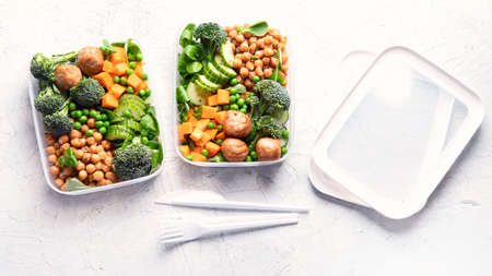 Healthy lunch box. Clean diet eating concept