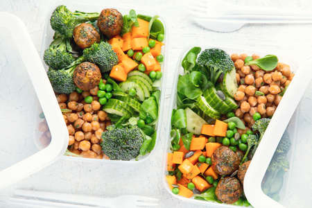 Healthy vegan lunch box. Clean diet eating concept