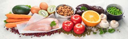 Foods High In Niacin Vitamin B3 for brain and heart Stock fotó