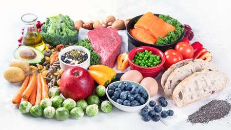 Healthy food clean eating concept. 版權商用圖片