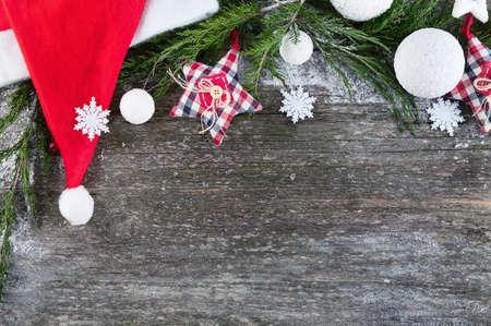 Christmas  with fir tree and balls