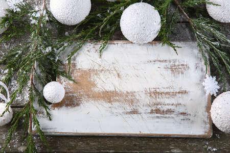 Christmas  with fir tree and balls.