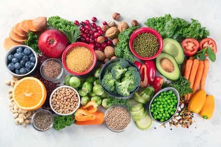 Health vegan and vegetarian food concept