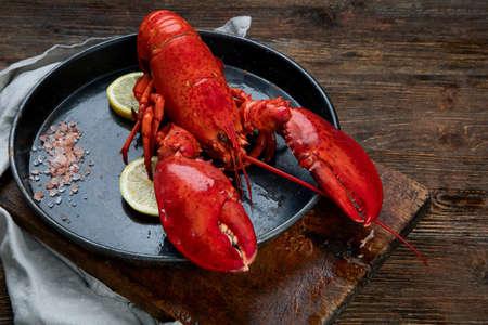 Freshly boiled lobster.