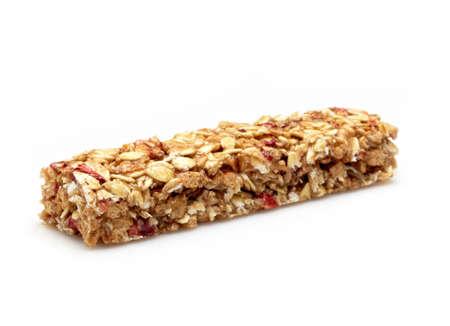 energy bar: Granola bar on white background
