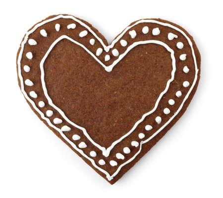 galletas de jengibre: Corazón de pan de jengibre con forma de galleta