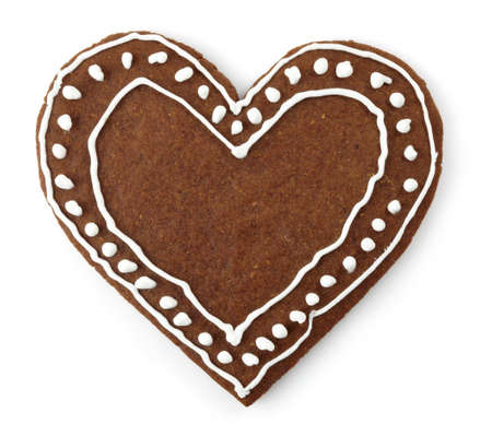 heart shaped: Heart shaped gingerbread cookie