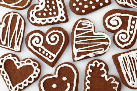 heart shaped: Heart shaped gingerbread cookies