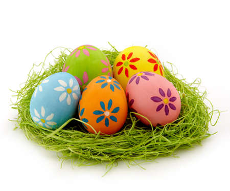 Nest of colorful Easter eggs Stock Photo - 18064245