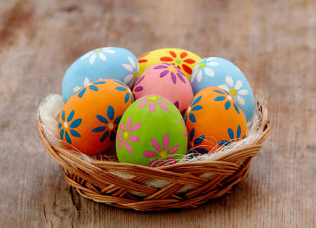 Basket of colorful Easter eggs Stock Photo - 18064837
