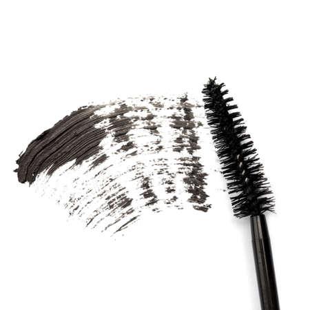 Stroke of black mascara on white background Stock Photo - 18064225