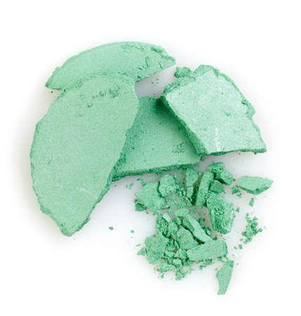 green powder: Green crushed eye shadows