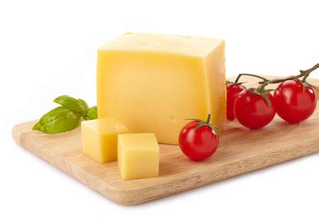 Fromage sur une planche à découper Banque d'images - 21457630