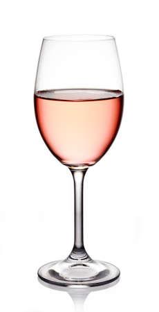 Bicchiere di vino rosato su sfondo bianco Archivio Fotografico - 22427636