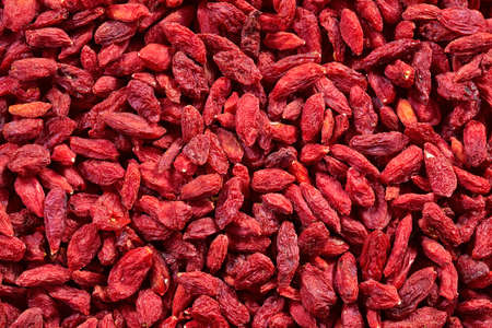 Background of dried goji berries photo