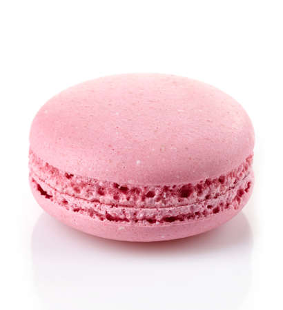 pink cake: Pink macaroon isolated on white background