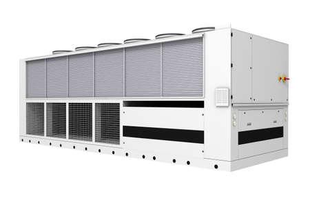 白い背景上に分離されて産業無料冷却チラー