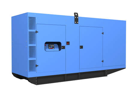 Diesel generator isolated on white background photo