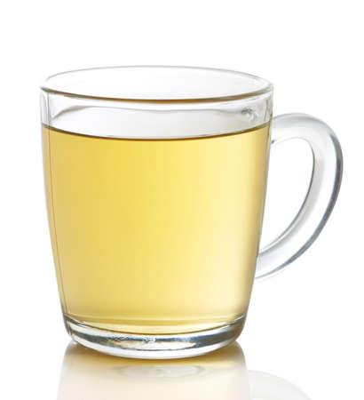 Cup of hot ginger lemon tea isolated on white background Standard-Bild