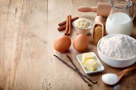 Ingredients for baking cake 写真素材