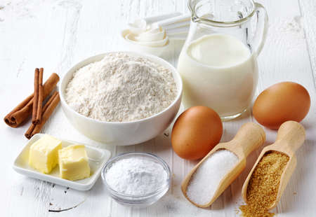 Ingredients for baking cake 스톡 콘텐츠