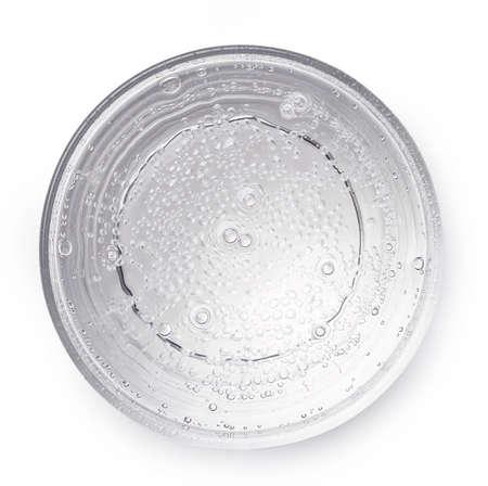 탄산수 또는 레몬 음료 흰 배경에 고립의 유리. 위에서 본 모습 스톡 콘텐츠