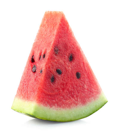 One slice of fresh ripe watermelon isolated on white background Stock fotó