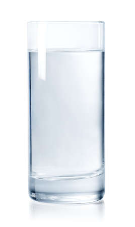 Glass of still water isolated on white background