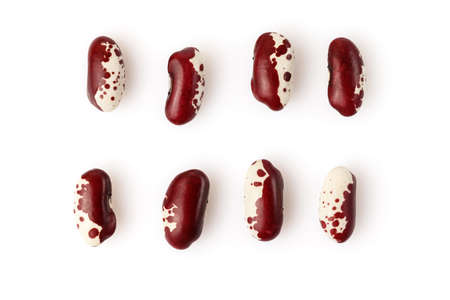 Kidney beans isolated on white background. Close up.
