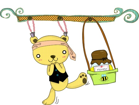 The bear who is crazy honey and can does everything for it